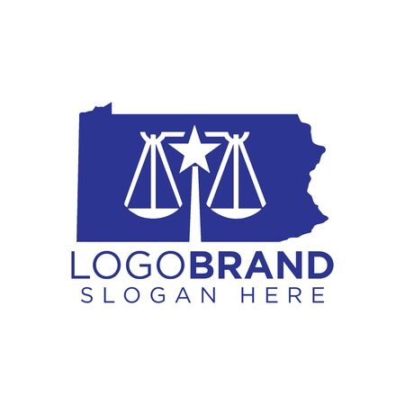 Kansas law firm logo template Çizim