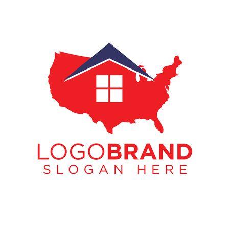 American Home Logo template Ilustração