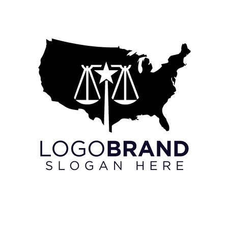American Law Firm Logo template