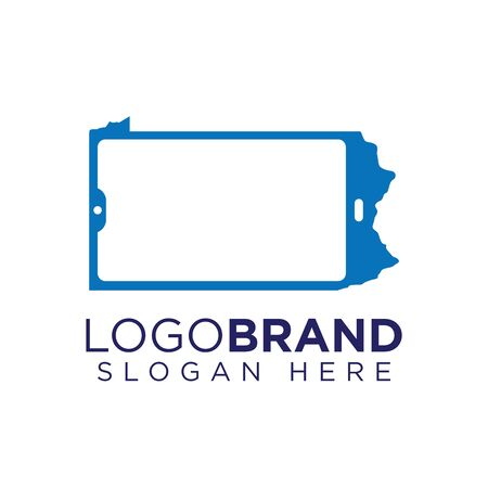Kansas Phone logo template