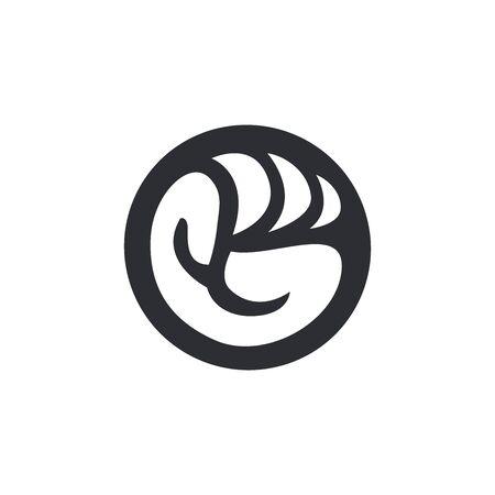 G Fist Circle Logo template Ilustração
