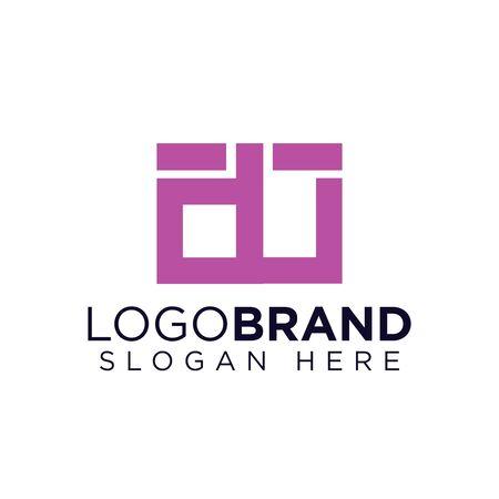 du Initial Letter lowercase Linked logo
