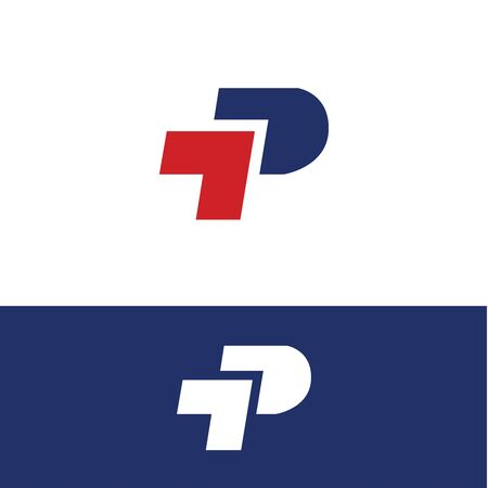 P Arrow Logo Template