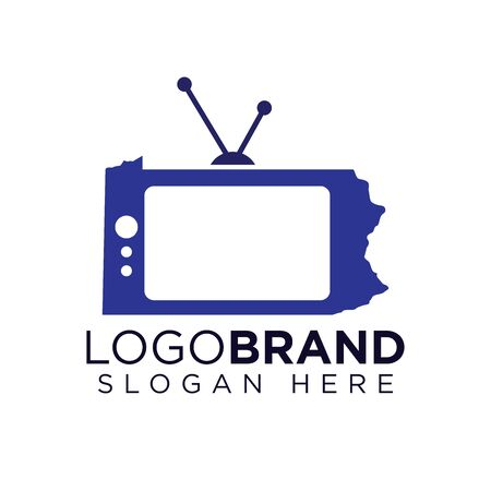 Kansas Television logo template Ilustração