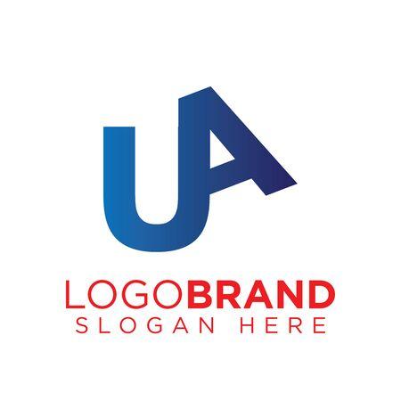 UA Initial letter connect logo template Ilustração