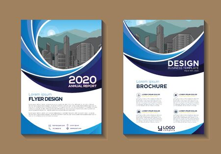 Brochure design, cover modern layout, annual report, poster, flyer in A4 with colorful, geometric shapes for tech, science, market with light background Vector Illustration