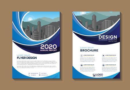 Broschürendesign, Cover modernes Layout, Jahresbericht, Poster, Flyer in A4 mit bunten, geometrischen Formen für Technik, Wissenschaft, Markt mit hellem Hintergrund Vektorgrafik