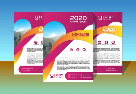 Brochure design, cover modern layout, annual report, poster, flyer in A4 with colorful, geometric shapes for tech, science, market with light background