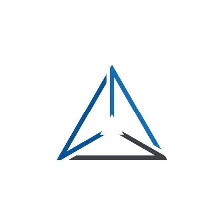 Abstract Line Triangle Logo Vector