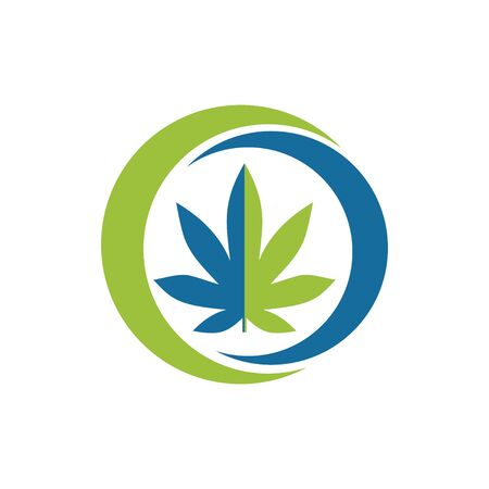 Health marijuana Logo vector template