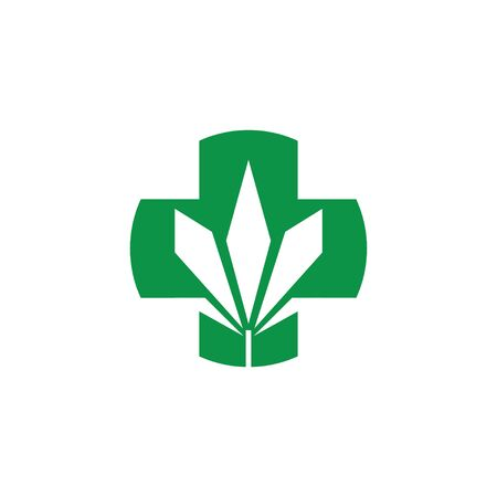 Health Care marijuana logo vector 스톡 콘텐츠 - 144803296