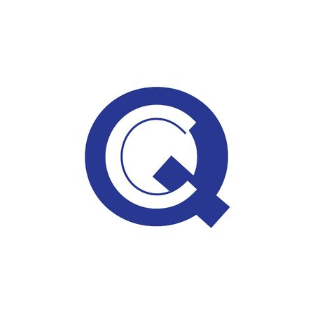 QC Initial Letter Logo Vector Template