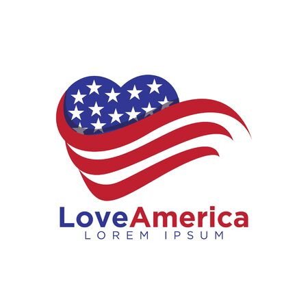 American Love heart Logo vector