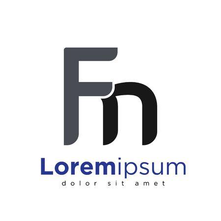 F N Initial letter logo vector Ilustração
