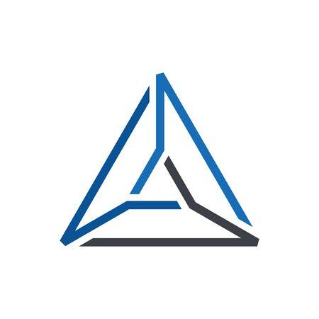 Vecteur de logo de triangle de ligne abstraite