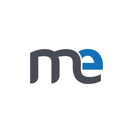 me Initial letter logo vector Ilustração