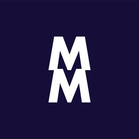 MM Initial Letter Logo Vector Template