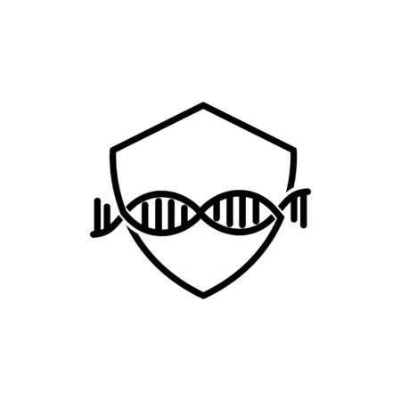 Shield DNA Secure Logo vector 일러스트