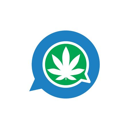 marijuana Talk Logo vector template
