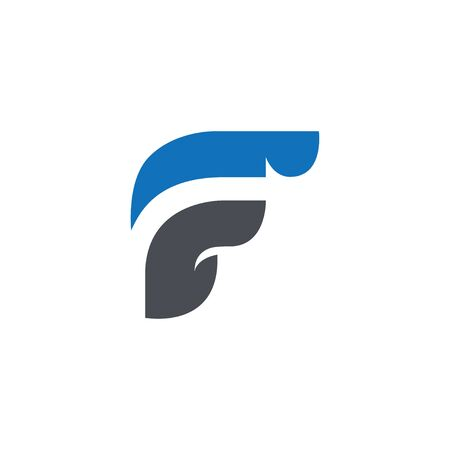 Abstract Letter F Logo vector