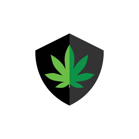 Shield Marijuana Health Secure logo vector