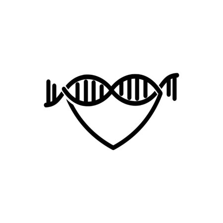 Love DNA Logo vector template 일러스트