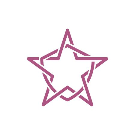 Line Star and Shield abstract logo vector template 일러스트