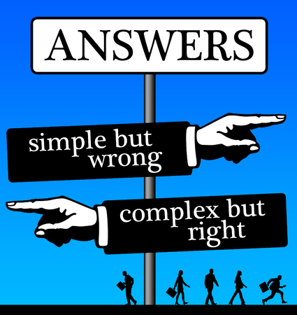 answers simple complex illustration Stock Photo