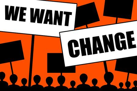 people wanting change illustration