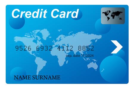 blue credit card illustration