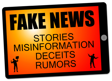 fake news communication illustration Stock Photo