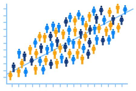 Ilustración de análisis de personas Foto de archivo