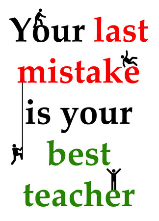 learn from mistakes illustration Imagens