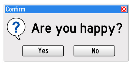 are you happy illustration