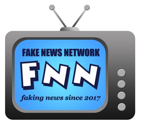 fake news network illustration