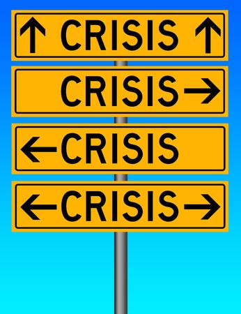 crisis everywhere illustration 版權商用圖片