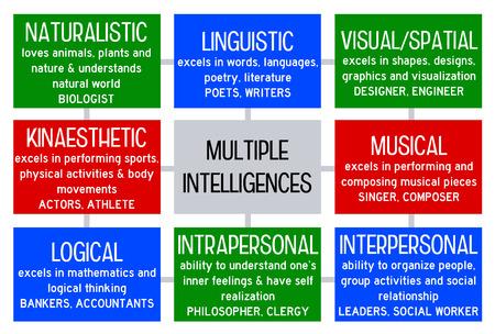 Multiple intelligences illustration