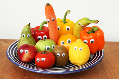 funny fruits vegetables Stok Fotoğraf