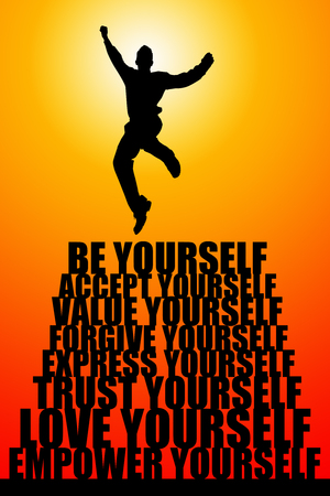 Be yourself illustration Foto de archivo