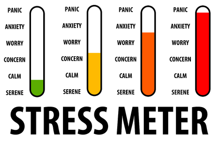 stress meter illustration