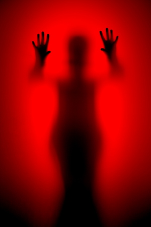 red horror ghost