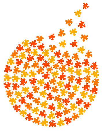 Puzzle circle illustration
