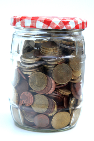 Jar with money, concept for saving money Stock Photo