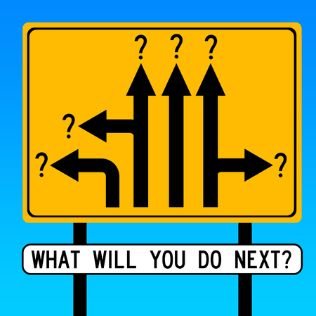 What to do next illustration Imagens