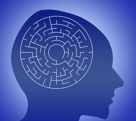 Confused mind illustration