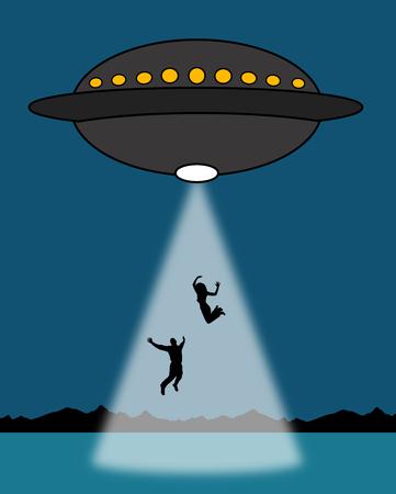 Alien abduction illustration