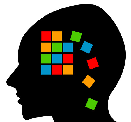 Alzheimers memory loss illustration