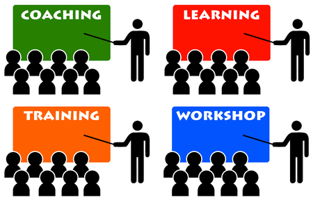 Coaching and training illustration