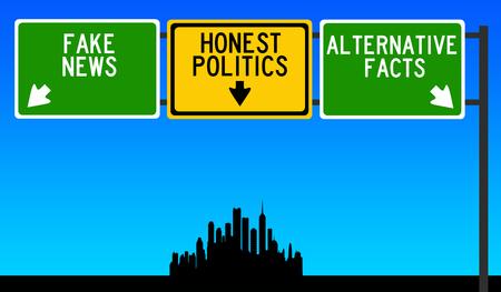 honest real politics illustration Banque d'images