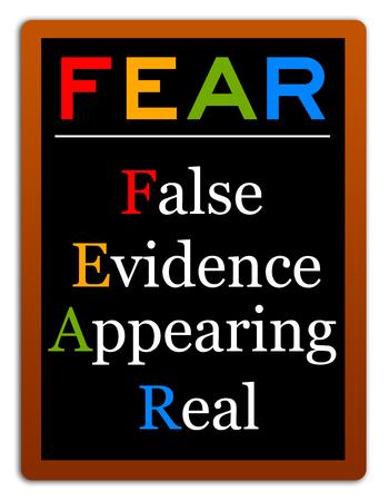False evidence illustration Stock Photo